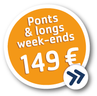 Longs week-ends à 149 € !